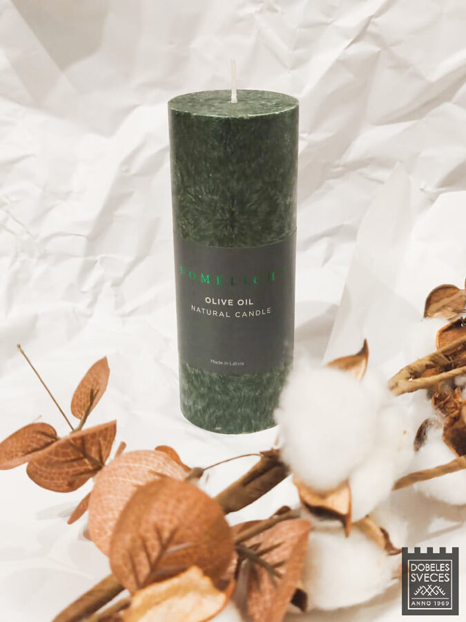 """HOMELIGHT"" olīveļļas cilindriska svece 56 x 150 mm"