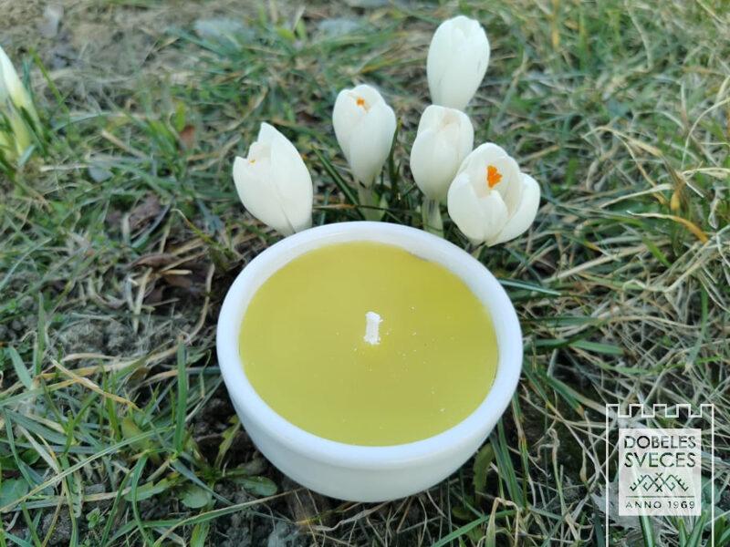Āra svece keramiskā traukā ar smaržu - Citronella