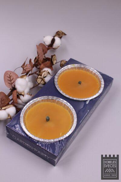 Āra sveces follijas trauciņos - oranžas 2 gab.