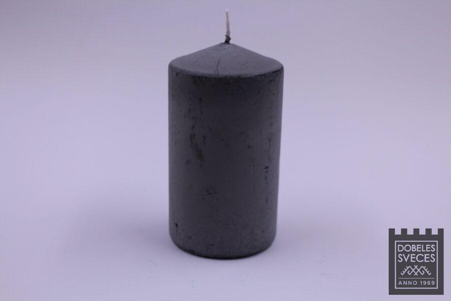 Presēta stearīna cilindriska svece ar piešķirtu vecinājuma efektu - MAIGI MELNS