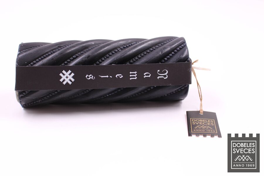 Figurāla parafīna svece NAMEJS - melnā krāsā