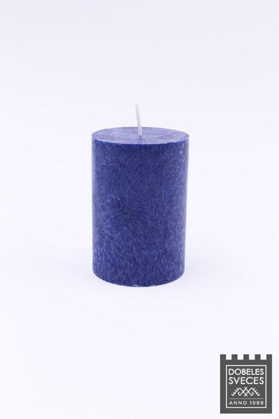 Olīveļļas cilindriska svece - TUMŠI ZILA