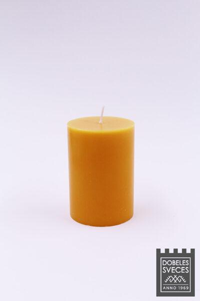 Lieta stearīna cilindriska svece - KOŠI DZELTENS