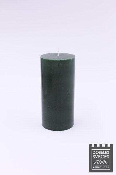 Lieta stearīna cilindriska svece - SMARAGDZAĻŠ